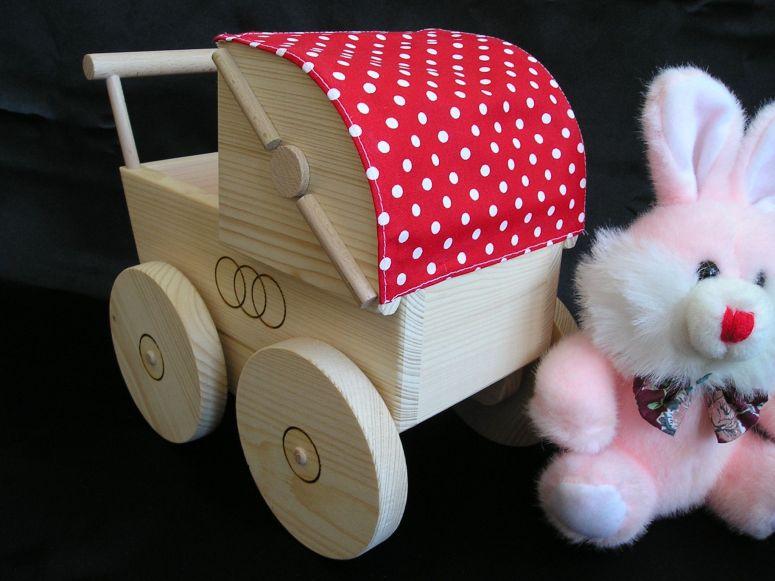 Puppenwagen Holz FUr 2 Jährige