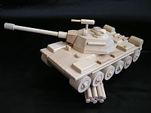 Toys wooden militar tanks
