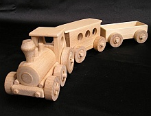 Train toys from wood
