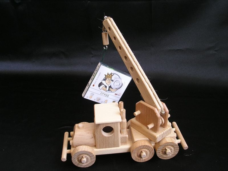 Crane + Lorry wooden toys - Wooden natural toys, cars and ...