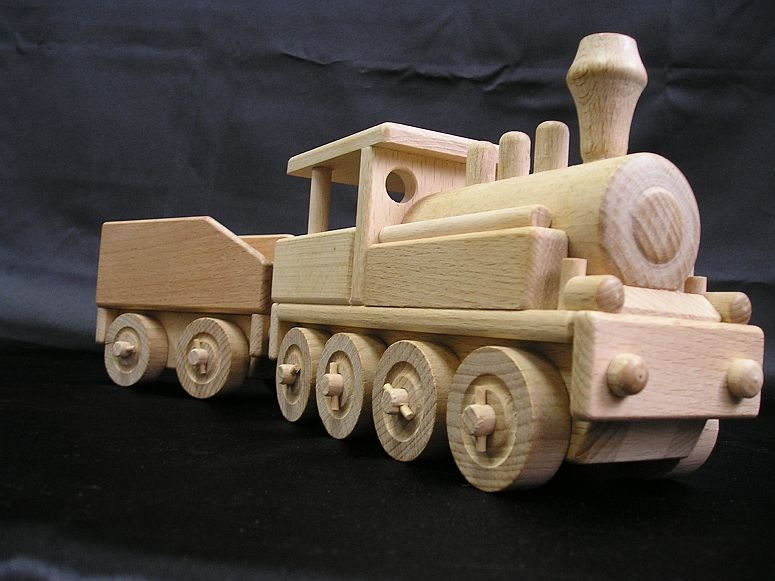 La locomotive - jouets en bois - Wooden Gifts SOLY