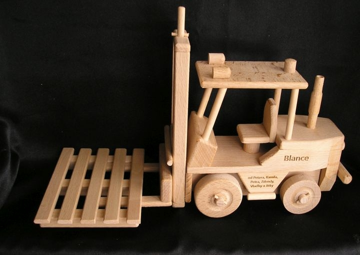 Forklift With Wooden Pallet Moving Wooden Toys Wooden
