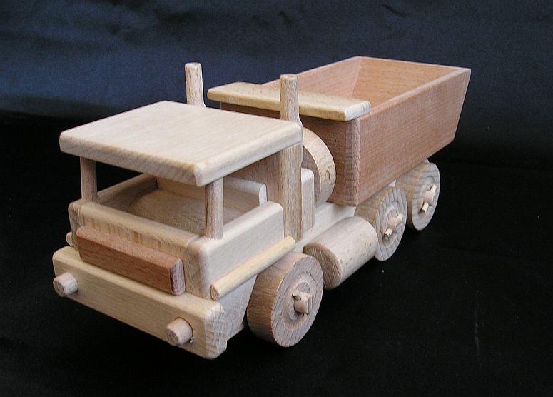 lkw kipper mit beweglichem f r sandtransport wooden. Black Bedroom Furniture Sets. Home Design Ideas