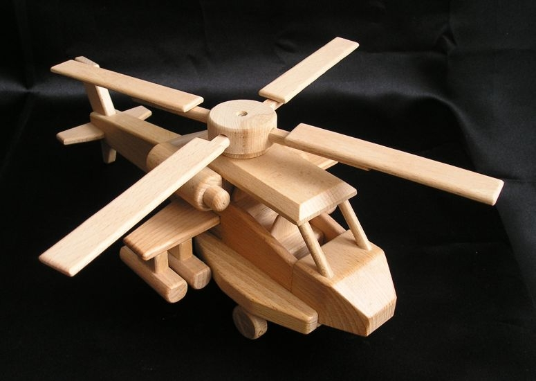 Army Helicopter Us Apache Wooden Natural Toys Cars And