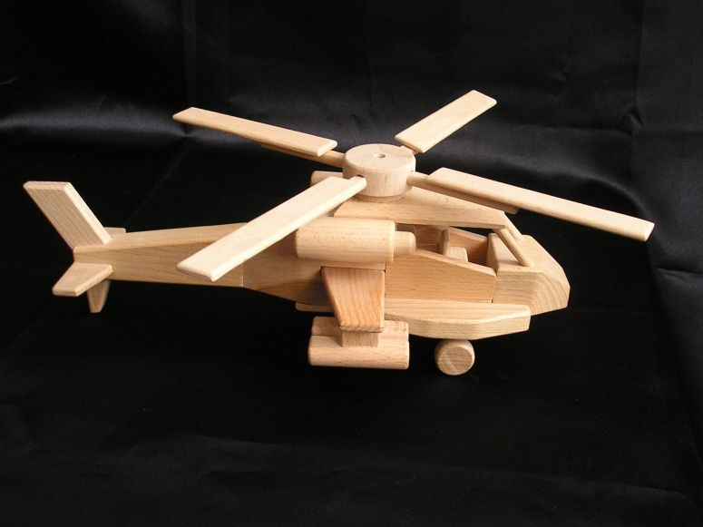 Army helicopter US Apache - Wooden natural toys, cars and ...
