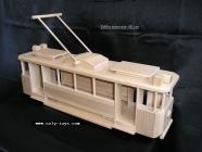 Big wooden tram toy LeGrande