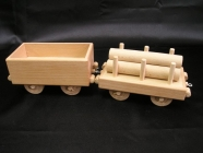 Trailer wagons for steam locomotive.