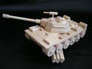 Russian wooden toy tank