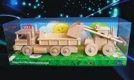 Loader and truck dump-trucks mobile wooden toys