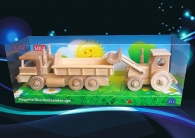 Lorry TATRA + tractor with blade, movable wooden toys