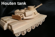 US tank - houten spleengoed
