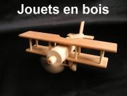 Avion biplane - jouet en bois