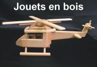Hélicoptères de jouets en bois
