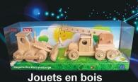 Grue + Bulldozer, jouets en bois