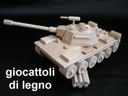 Carro armato russo T72 - giocattoli di legno