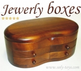 Jewelry box made of wood - 4 drawers - Drogheda