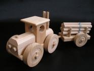 Holz Waldtraktor für Holzernte mit Anhänger