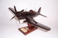 Wooden model Vought F4U Corsair - fighter aircraft