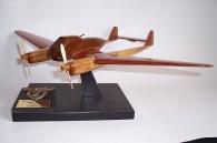 Focke-Wulf Fw 189 Uhu (Eagle Owl) aircraft wooden model