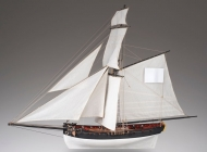 Le Cerf - French cutter, wooden ship kit