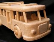 Bus wooden toy | autobus, omnibus, motorbus