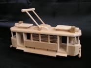 Historischen Holz-Straßenbahn Spielzeug