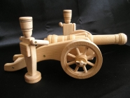 Big wooden soldiers and big cannons