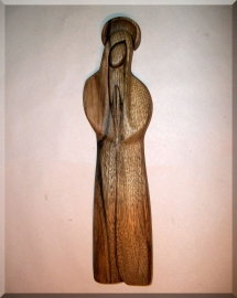 The Holy Virgin Mary with a halo, wooden sculpture