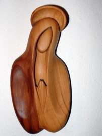 Madonna with halo, timber sculpture