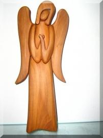 Guardian Angel, wooden statue