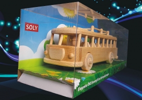 Cool toy Bus of the sixties, wooden retro toys