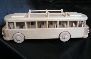 Wooden toy bus ŠKODA RTO