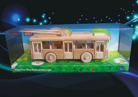 Mooving  wooden trolley  toy