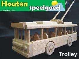 Trolley bus ŠKODA 14Tr - houten speelgoed
