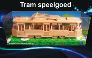 Modern Tram TATRA - houten speelgoed
