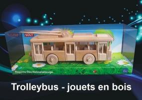 Trolleybus ŠKODA 14Tr - jouet en bois mobiles