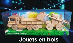 Camion + Tracteur, jouet en bois