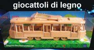 Tram TATRA - giocattolo di legno