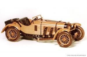 Mercedes Benz SSKL SPORT (1931) wooden modell