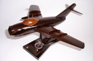 MiG-15 airplane wooden model