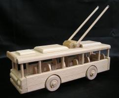 O-Bus Holz-Spielzeug