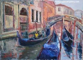 Highway on the water, original oil paintings
