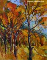 Autumn near the Prague, original paintings