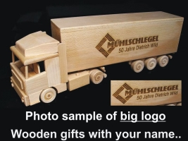 LOGO laser engraving of a large logo on your wooden gift