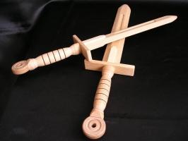 Wooden swords for kids 2 pc, 40 cm