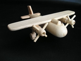 Small wooden bomber plane, airplane, aircraft