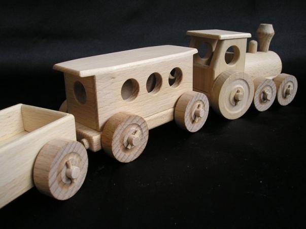 Personenzug Spielzeug Geschenk aus Holz