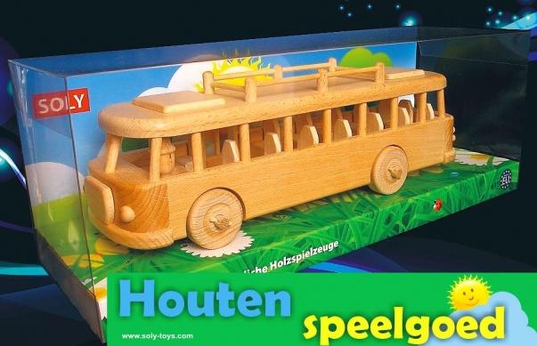 Bus Škoda RTO - houten kinderspeelgoed.