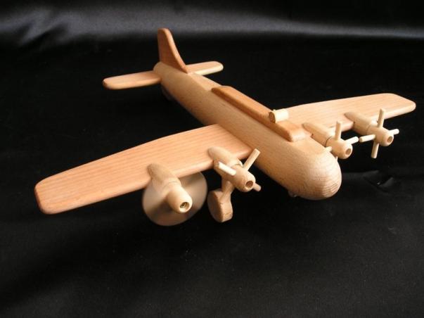 Houten vliegtuig B 17 - vliegtuig voor kinderen