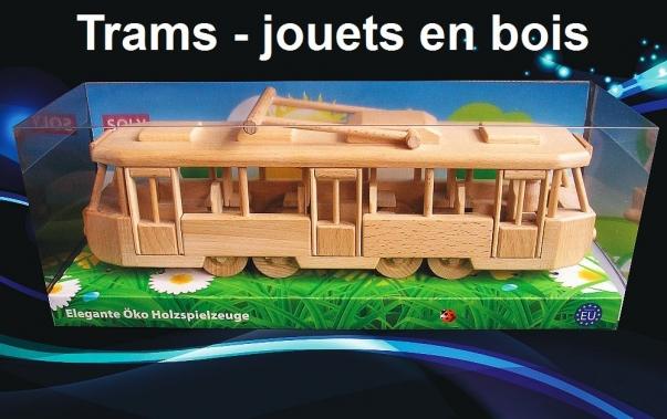 Moderne tramway TATRA - jouet en bois